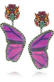 Erickson Beamon Butterfly vergoldete Ohrringe mit Swarovski-Kristallen | NET-A-PORTER