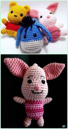 Crochet Amigurumi Winnie The Pooh Rabbit Free Pattern [Video] - Crochet Amigurumi Winnie The Pooh Free Patterns