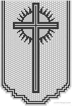 Crochet Doilies, Crochet Stitches, Knit Crochet, Altar, Bobbin Lace Patterns, Crochet Patterns, Crochet Carpet, Fillet Crochet, Plastic Canvas Patterns