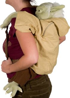 Plush Yoda Star Wars Back Pack . Creepy but I want it. I thought it was an ugly baby riding on mommy.  Love it I do! (in Yoda voice) bahaha
