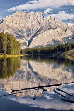 Johnson Lake and Cascade Mountain, Banff National Park, Alberta - Canada