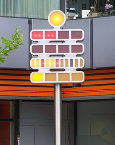 Germany - The Mengenlehreuhr (Set Theory Clock), in Berlin, is the first public clock in the world that tells the time by means of illuminated, coloured fields, for which it entered the Guinness Book of Records upon its installation on 17 June 1975.
