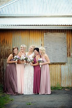 Multiway Bridesmaid Dresses in different colours! www.shop.goddessbynature.com