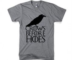 Crows Before Hoes Tee