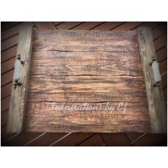 Handmade wooden tray with vintage map in it..home decor and orthodox wedding accessories..