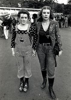 Ok clothes are HORRIBLE but spirit is the real deal: David Bowie fans outside Earls Court, London, 1973.