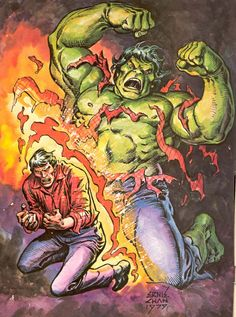#Hulk #Fan #Art. (Bruce changing in to the Hulk!) By: Ernie Chan. (THE * 5 * STÅR * ÅWARD * OF: * AW YEAH, IT'S MAJOR ÅWESOMENESS!!!™)[THANK Ü 4 PINNING<·><]<©>ÅÅÅ+(OB4E)               https://s-media-cache-ak0.pinimg.com/474x/09/71/77/097177f2945bb1e60459c5439412c130.jpg