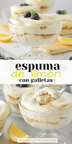 Delicious lemon dessert with cookies, does not require an oven and is very easy to prepare, you only need 4 ingredients faciles gourmet de cocina de postres faciles pasta saludables vegetarianas Lemon Desserts, Köstliche Desserts, Delicious Desserts, Yummy Food, East Dessert Recipes, Mexican Food Recipes, Sweet Recipes, Christmas Desserts, Mousse