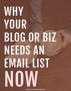 2 Big Reasons You Need An Email List Now - Beautiful Dawn Designs