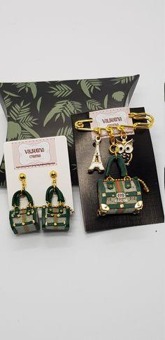 Jewelry Earring •Miniature Handbag Earring • Fashion jewelry • Jewelers • miniatures • Dollhouse Miniature handmade designer Bag Fashion Earrings, Fashion Jewelry, Dollhouse Miniatures, Jewels, Etsy, Handmade, Bags, Accessories, Design