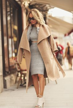 mis guided co-ordinate and camel coat