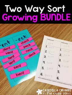 Growing BUNDLE - Two Way Sort Phonics SkillsThere will be many more resources added to this growing bundle throughout the year and you earn FREE access to all future content. The sooner you purchase this product, the cheaper it will be. The price will go up when a new set of words are added.I use this set with first grade, but depended on your students it can be used with kindergarten, as well as second grade during reading centers or phonics lessons.