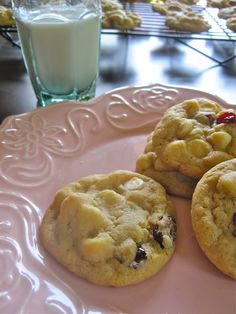 ... Chocolate chip cookies, White chocolate chip cookies and Chocolate