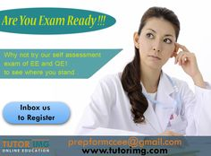Are you exam ready !!! Why not try our self-assessment exam of EE and QE1 to see where you stand . Inbox us to register Contact us @ prepformccee@gmail.com Self Assessment, Online Courses, Education, Self Esteem, Educational Illustrations, Learning, Studying