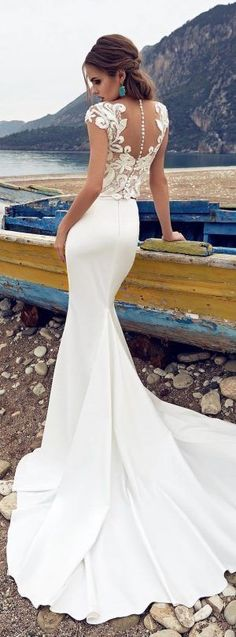 Two piece wedding dress | Lanesta Bridal - The Heart of The Ocean Collection