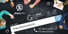 Schedule a business meet with zoro.im for your tech talks at #GITEX Technology Week 2016 - Setup your Appointment Now  https://zoro.im/appointment #exhibition #Dubai