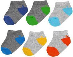 Jumping Beans Baby Boy / Toddler Boy Jumping Beans® 6-pk. Colorblock Low-Cut Socks