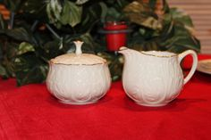Vintage Lenox Creamer Sugar Bowl  Rare Cottage by TeaAttheBrits, $95.00