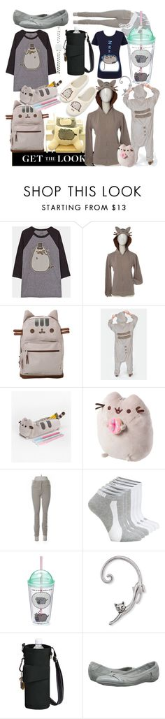"""plush purr Pusheen"" by lerp ❤ liked on Polyvore featuring Coffee Shop, Pusheen, claire's, Gap, Puma, Gund and Natures Jewelry"