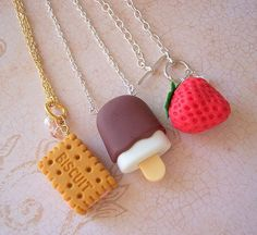 fimo images, image search, & inspiration to browse every day. Polymer Clay Kawaii, Fimo Clay, Polymer Clay Charms, Polymer Clay Art, Polymer Clay Jewelry, Clay Earrings, Drop Earrings, Bff Necklaces, Cute Necklace