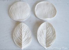 Silicone double-sided rose petal & leaf veiners by steelpennycakes