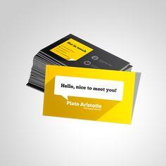 Flat Design Business Card