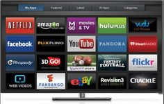 Vizio Internet Apps Plus is the company's name for its new full-screen app launcher, as well as a group of new apps and features for its smart TV platform. Netflix, Smart Televisions, Covert Cameras, Go Tv, Samsung Smart Tv, Tv Watch, Pandora, Lg Phone, Instant Video