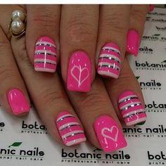Ideas Bright Nails Acrylic Hot Pink For 2020 Nail Design Spring, Spring Nail Art, Spring Nails, Bright Nails, Funky Nails, Fabulous Nails, Perfect Nails, Colorful Nail Designs, Gel Nail Designs