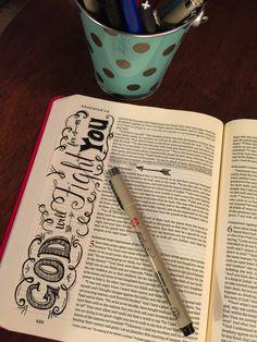 Bible journaling - Nehemiah 4 a great reminder Scripture Doodle, Scripture Art, Bible Art, Bible Verses, Book Art, Bible Study Journal, Art Journaling, Scripture Journal, Bible Prayers