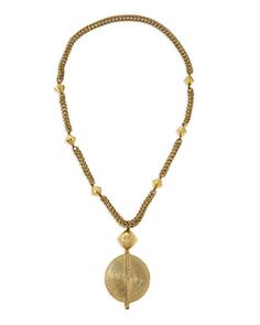 Nest Brass Medallion Necklace - available at neimanmarcus.com
