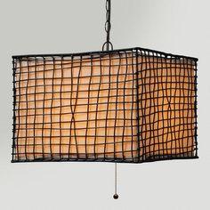 One of my favorite discoveries at WorldMarket.com: Lattice Outdoor Pendant Lamp