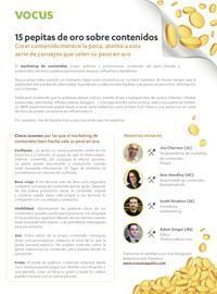 """Traducción """"15 pepitas de oro sobre contenidos"""" (diciembre 2011). December, Gold"""