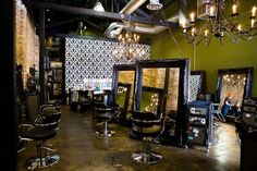Vintage chic hair salons | hairroin salon, hollywood hair salon