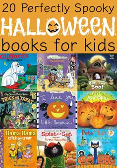 20 Perfectly Spooky Halloween Books for Kids! 20 Perfectly Spooky Halloween Books for Kids! Halloween Books For Kids, Halloween Activities, Spooky Halloween, Holidays Halloween, Preschool Halloween, Autumn Activities, School Holidays, Kid Activities, Vintage Halloween