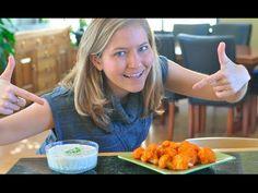 Buffalo Cauliflower Wings with #Vegan Ranch Dipping Sauce! Video recipe from VeganBreak.com.