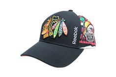 Check out this Reebok On Ice Hat featuring the Stanley Cup Playoffs logo! #Blackhawks