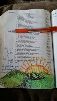 Bible Journaling Proverbs 3:5&6 Trust in the Lord...He will make your paths straight. Combining zentangling and bible journaling