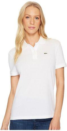 da8ded645fd Lacoste Short Sleeve Two-Button Classic Fit Pique Polo. LacosteWomen s  ClothingIce ...