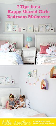 New baby cribs for girls shared rooms Ideas - Modern Two Girls Bedrooms, Shared Bedrooms, Sister Bedroom, Kids Bedroom, Sibling Room, Little Girl Rooms, Baby Cribs, Kid Beds, Modern
