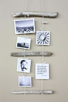 Driftwood Photo Display - #diy