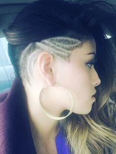 Side shaved design @salonseventwenty