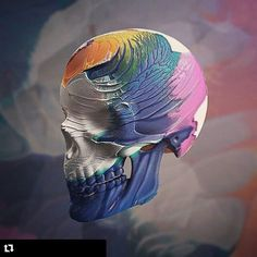#Repost @rikoostenbroek with @repostapp  2015 @instagram Memories.  #mixedmedia #3d #skull #skullart #jackofthedust #rsa_graphics #thedesigntip #acryllic #paint #sculpting #c4d #adobe #photoshop #displacement #painting #artspotted #thedesigntip #thednalife #art #design #gadget #illustration