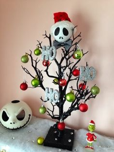 jack skellington christmas tree made by serena bee nightmare before christmas halloween christmas tree