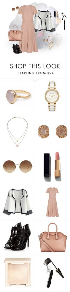 """Muted"" by ruhia-sadiq on Polyvore featuring Bohemia, Michael Kors, Victoria Beckham, Chanel, Chicwish, Valentino, Givenchy, Jouer, Lancôme and IWearPinkFor"