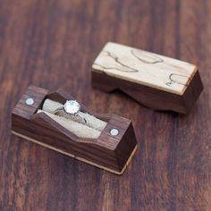 Mountain ring box made from walnut and spalted maple. Now available in store. . . . . #ringbox #ring #box #engagementring #engagement #proposal #weddings #woodworking #unique #design #nature #naturelover #mountain #gift #greek #olivewood #walnut #handcraft #handmade #craft #art #artsandcrafts