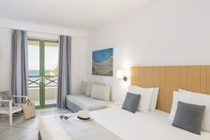 Welcome To Samaina Inn Hotel. At our hotel, you can select between double rooms as well as comfortable suites and family rooms with sea view, pool view. Samos, Double Room, Floor Chair, Family Room, Interior Design, Bed, Furniture, Home Decor, The Beach