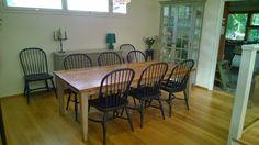 Iso lankkupöytä - värin päätät sinä!  Plank top table #planktoptable