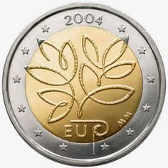 2 Euro Finland Fifth Enlargement of the European Union in Commemorative 2 euro coins from Finland Piece Euro, Numismatic Coins, Euro Coins, Fortune, Gold Money, Commemorative Coins, Gold Bullion, Badge Design, World Coins