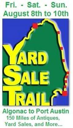 Yard  Sale Trail, Algonac to Port Huron.