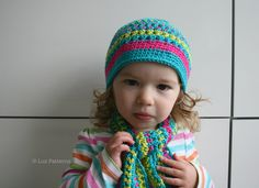 Crochet hat pattern, crochet hat and scarf set pattern, crochet baby hat set pattern (75) 5 sizes from baby to adult. $4.99, via Etsy.